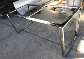 Australian manufactured welded metal cafe restaurant dining table frames and legs