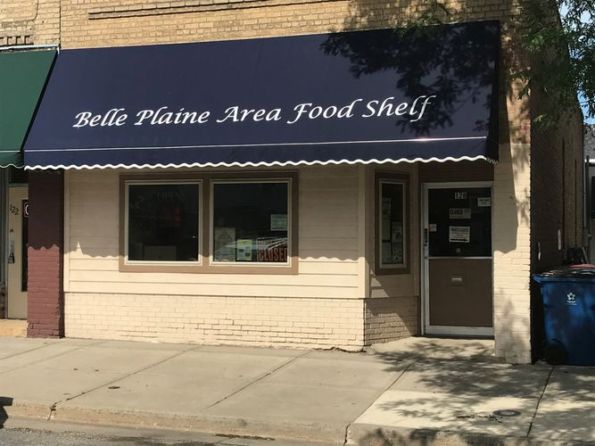 Storefront of the Belle Plaine Area Food Shelf