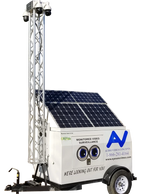 Our GS-Model is a solar powered unit with generator backup and features four PTZ HD cameras.
