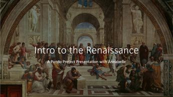 Intro to the Renaissance presentation title slide.