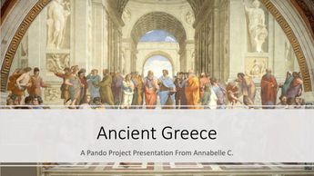 Intro to Ancient Greece presentation title slide.