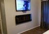 TV Mounting and Electric Fireplace Mounting Plus Wire Concealment