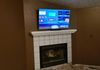 TV Mounting and Wire Concealment Above Fireplace