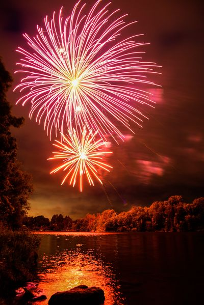 Fireworks over the Rideau River