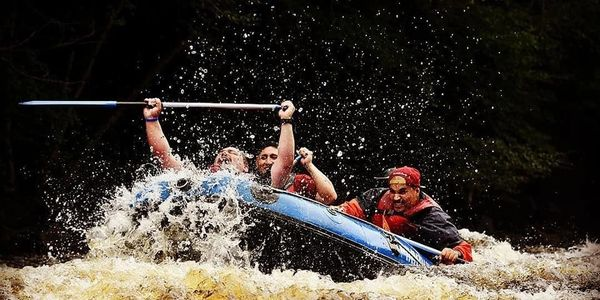 Whitewater Rafting on the Lehigh River in front of our cabins