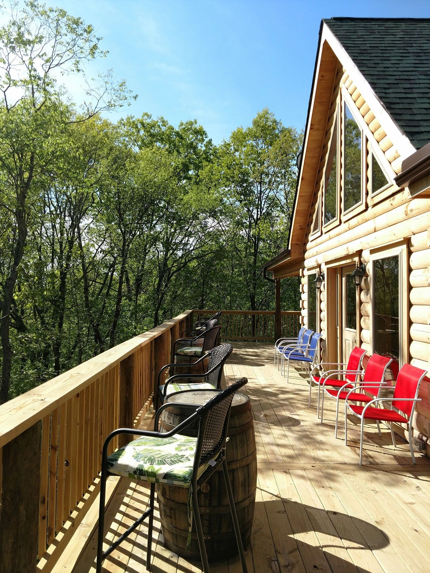 Log Cabin on Lehigh River. Perfect for Pocono vacation rental and Pocono bachelor party