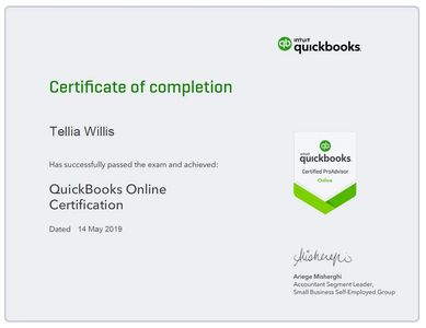 Certified QuickBooks Professionals