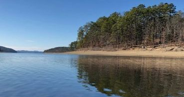 Crystal clear waters of Lake Ouachita, Arkansas.