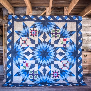 Blazing Star Quilt Designed by Nancy McNally