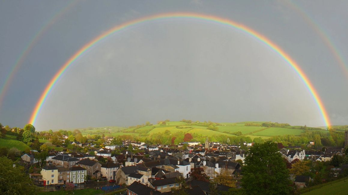 Totnes Devon Double Rainbow