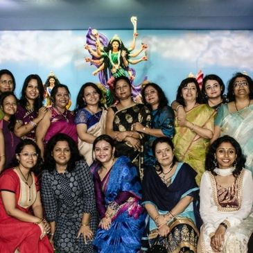 Ladies at Durga Puja in Hyderabad #cbadurgapuja #bengalisinhyderabad #BiH #CBA