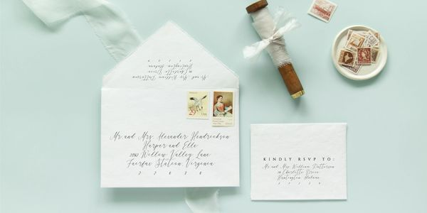 calligraphy template, wedding guest address, envelope addressing,
