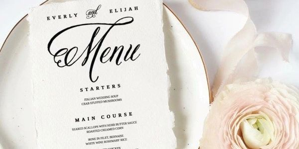 wedding menu, place cards, escort cards, wedding template
