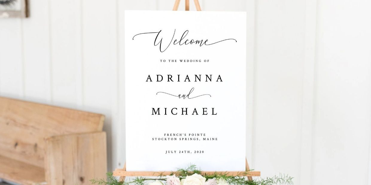 INSTANT DOWNLOAD, 18x24 Editable Wedding Welcome Sign Template, Wedding and Reception Decor
