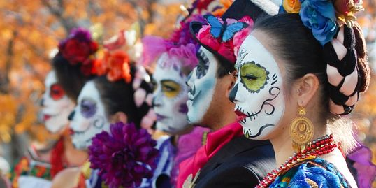 Site animation, day of the dead in Toronto, Dia de Los Muertos , Day of the Dead Makeup, halloween