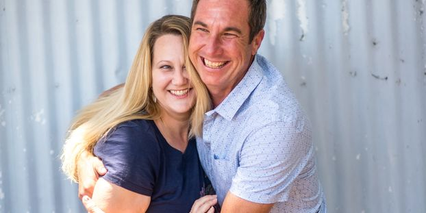 Garrett & Erin Momburg Husband & Wife Happy to be in love in SLO County since 2000 Lucky Girl