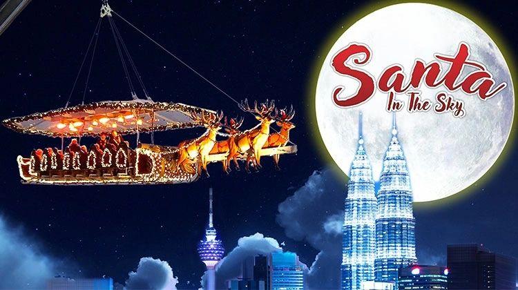 Santa in the Sky Kuala Lumpur
