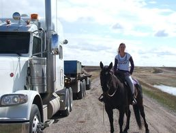 michelle has been transporting horses and freight across Canada for over 10 years