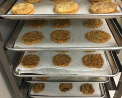 cookies, snickerdoodles, oatmeal toffee crunch cookies, tray of cookies