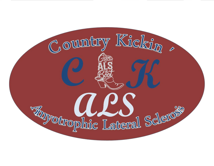 This is the logo for our Country Kickin' ALS event.  We have raised $29,000.00 in two events for peo