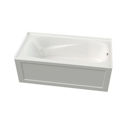 Mirolin PA6632R Phoenix 2 66 in. W x 32 in. D x 20 in. H Skirted Bathtub Right Drain Acrylic White
