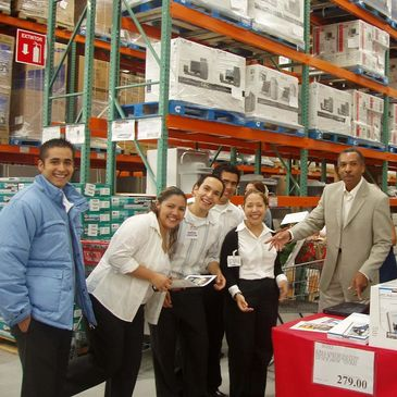 Bob Jacobs working at in store Costco demo in Monterrey, Mexico