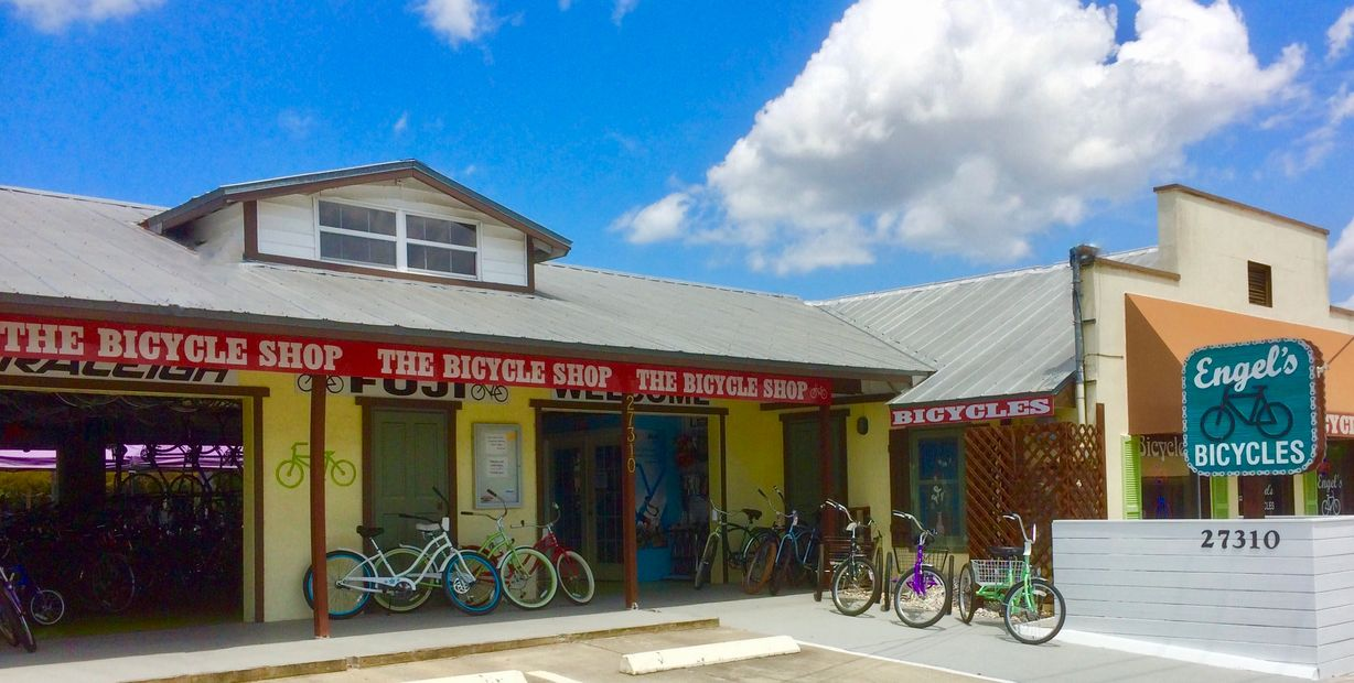 Photo of front of Engel's bike shop