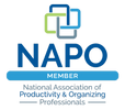 member of NAPO National Association of Productivity and Organizing Professionals