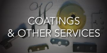 powder coating, nickel, anodize, paint, hard chrome, heat treating, black oxide, sand blasting