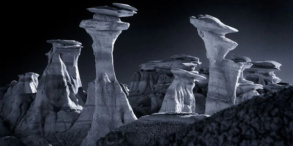 Hoodoos infrared photo by Jim Peterson