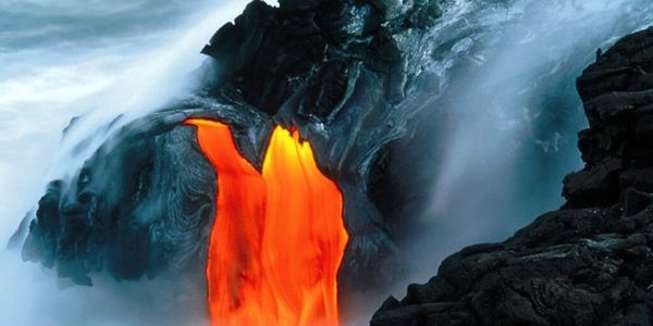 Volcanic action on the Big Island of Hawaii.