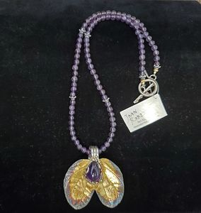 Silver & Gold Amethyst Necklace