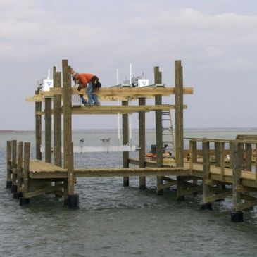 Pier, dock, and boat lift construction