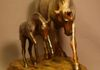 """Euphoria!"" Bronze horse statues with roan patina. Sculpted by artist Kim Corpany."