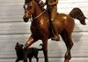 """Endurance"" - Carol, Stranger and Axle custom bronze portrait statue by Kim Corpany 1/2 life size bronze portrait"