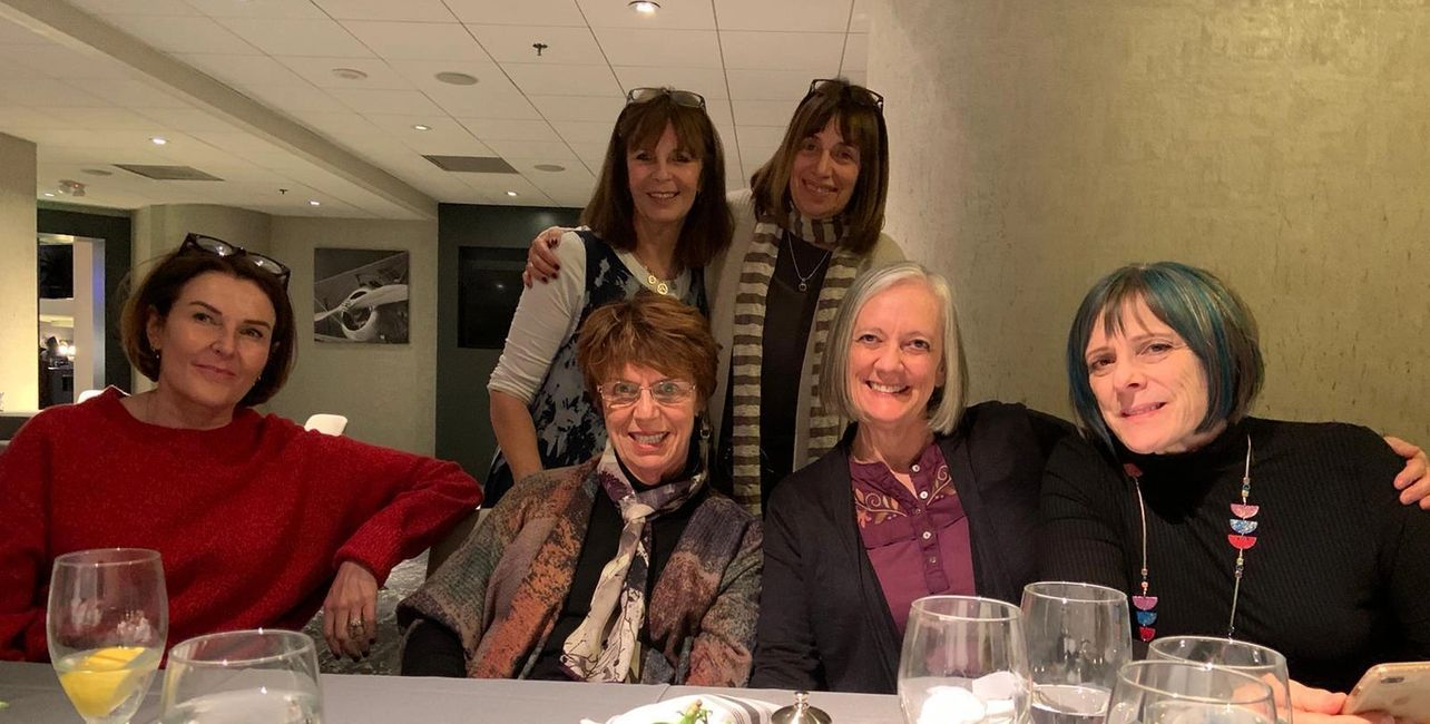 Cate with Ellyn Bader (back row) At the Master Mentoring Training San Francisco JANUARY 2020