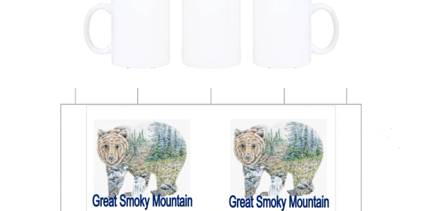 Great Smokey Mountain bear on a Custom License plates