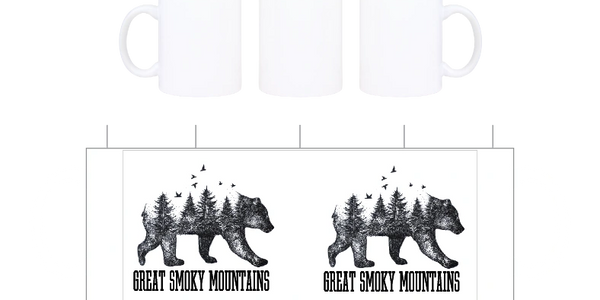 Great Smokey Mountains bear on a Custom License plates