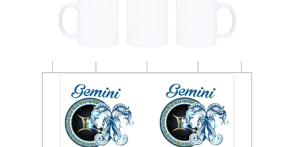 Gemini zodiac sign on a license plate