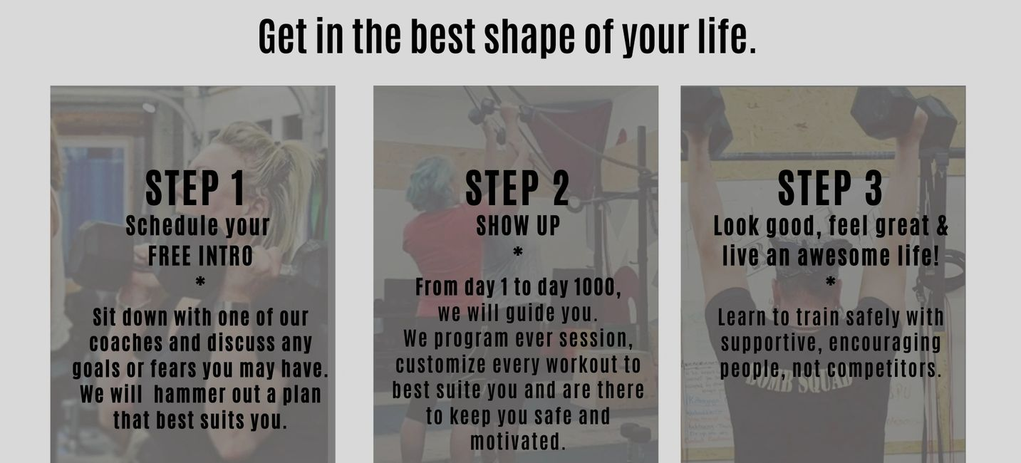 Your steps to greatness!