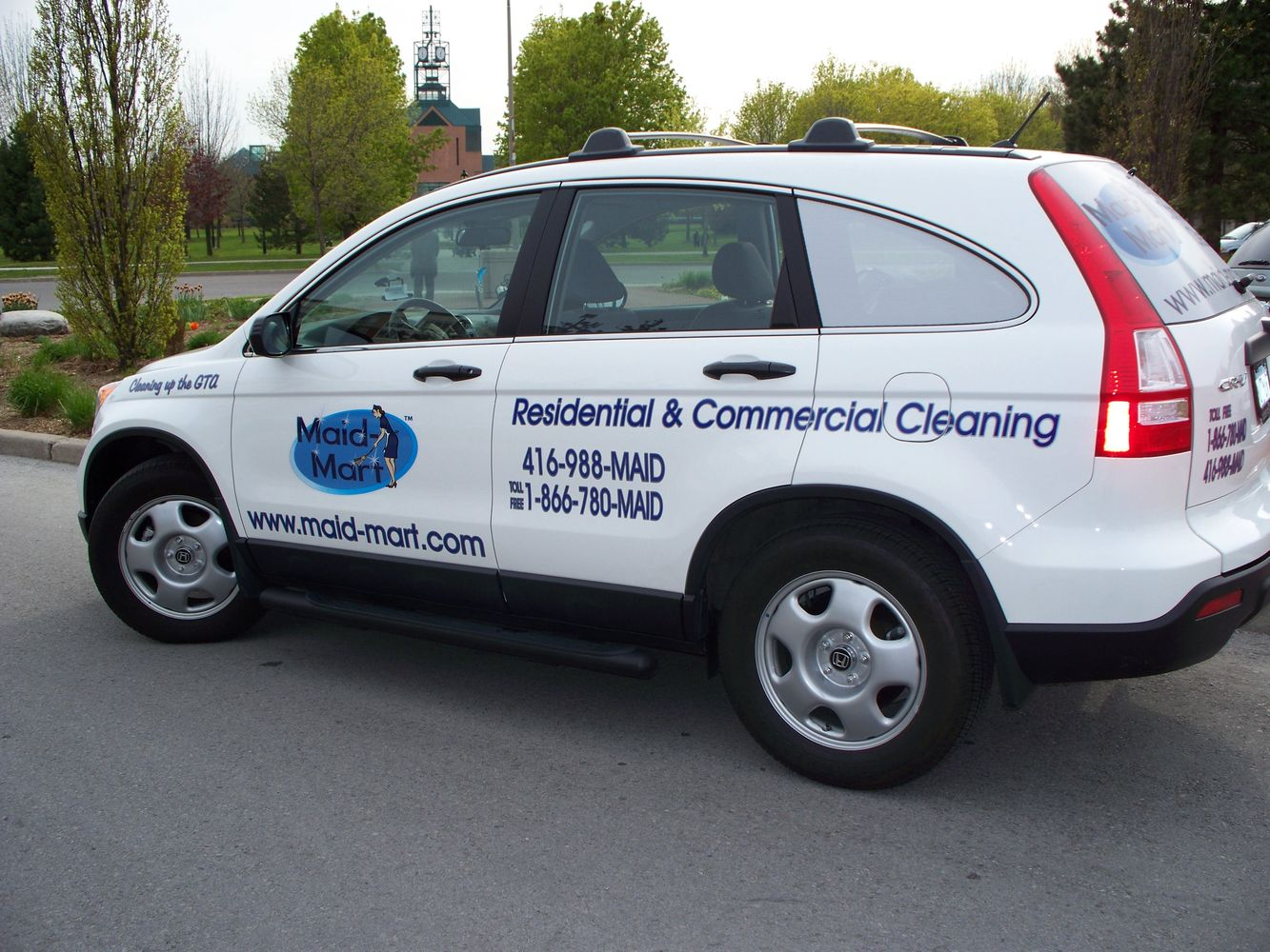 Maid Maid cleaning car for residential and commercial cleaning in the GTA.