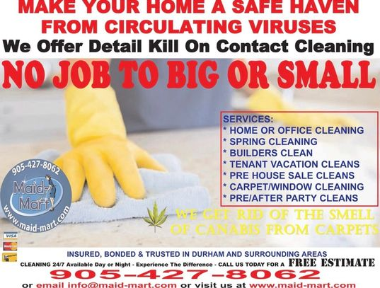 Corona virus 19 cleaning homes and offices.