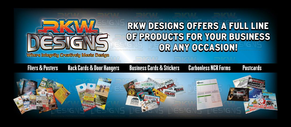 RKW Designs - Available print products from RKW Designs