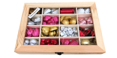 Milk Chocolate assortiment in a wooden box