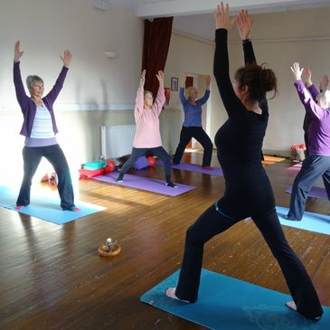 Yoga class pilton village hall