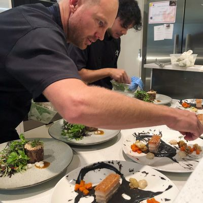 Private Chefs Brett Gilbert and Chef J.R catering a birthday party at a home in Perth.