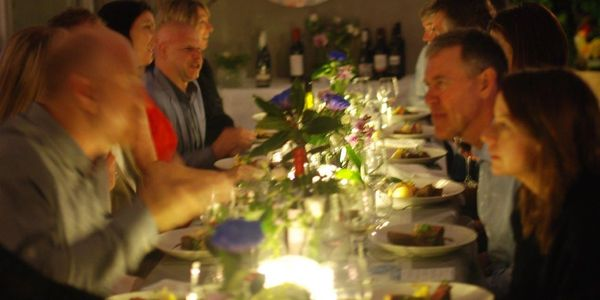 People enjoying Perth Chef Hires amazing birthday dinner party catering and waiter service.