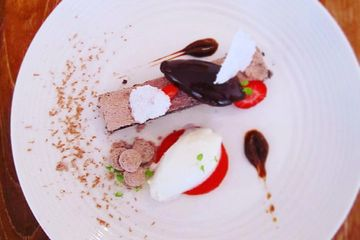 Chocolate and Strawberries dessert for a party catered in Cottesloe Perth Western Australia