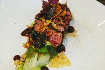 Menu options with Perth Chef Hire - Wagyu Rump Tataki