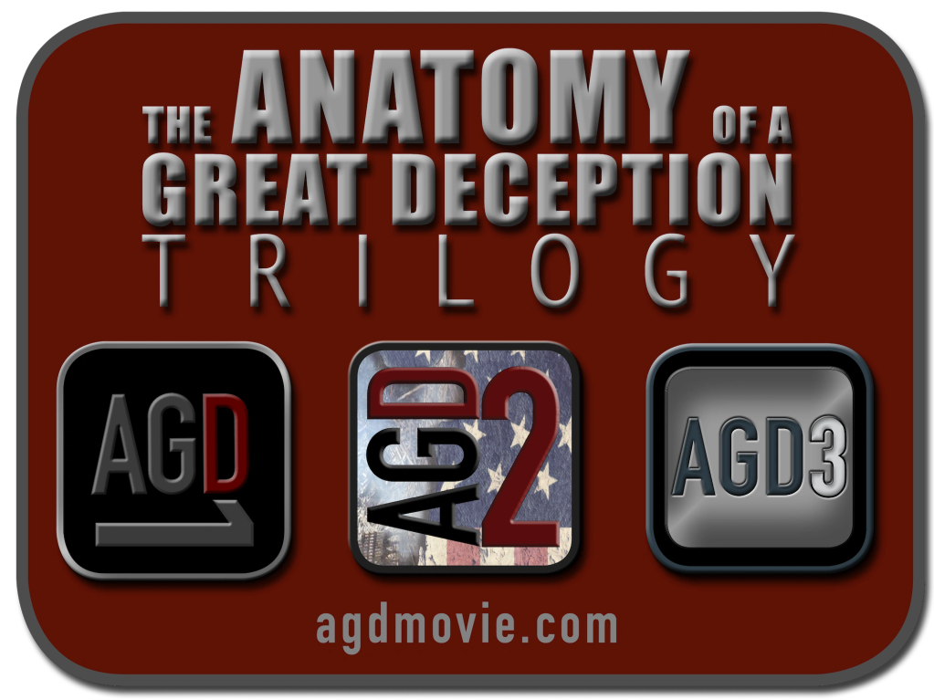 The Anatomy of a Great Deception Trilogy (AGDT) is made of AGD1, AGD2 & AGD3 by David Hooper.